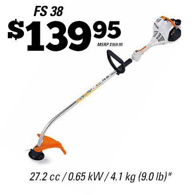 stihl canada fs 38 gas trimmer. Black Bedroom Furniture Sets. Home Design Ideas
